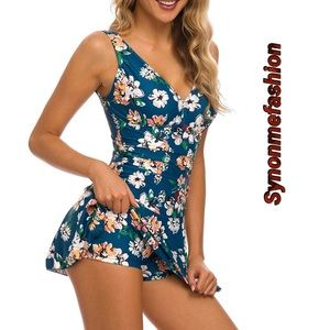 One Piece Skirt Tummy Control Bathing Suit